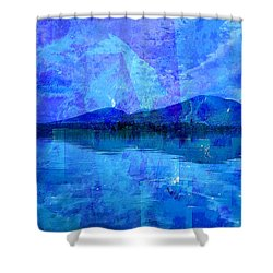 Flagstaff Lake Blu Shower Curtain