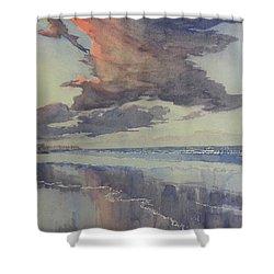 Flamborough Head From Fraisthorpe Beach Shower Curtain