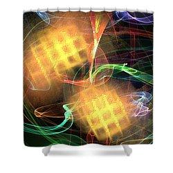 Shower Curtain featuring the digital art Flame Art 2 by Maciek Froncisz