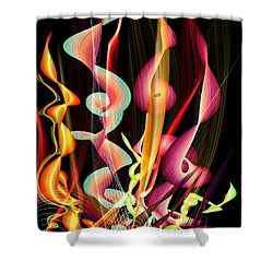 Shower Curtain featuring the digital art Flame By Nico Bielow by Nico Bielow