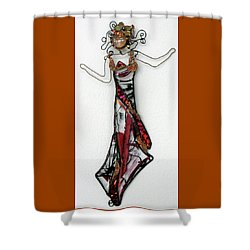 Flame Dancer Shower Curtain by Maxine Grossman