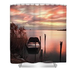 Flame In The Darkness Shower Curtain