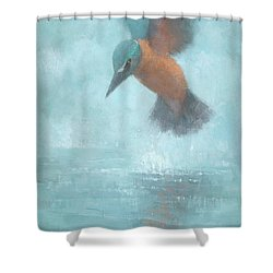 Flame In The Mist Shower Curtain by Steve Mitchell