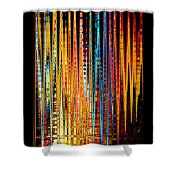 Shower Curtain featuring the digital art Flame Lines by Francesa Miller