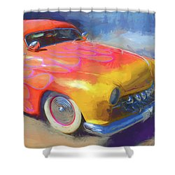 Flamed Mercury Shower Curtain