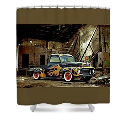 Flamed Pickup Shower Curtain