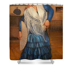 Flamenco 2 Shower Curtain by Donelli  DiMaria