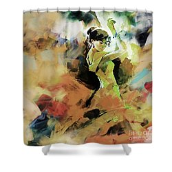 Shower Curtain featuring the painting Flamenco 56y3 by Gull G