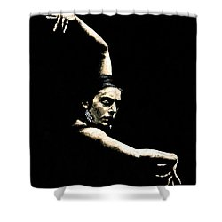 Flamenco Arms Shower Curtain by Richard Young