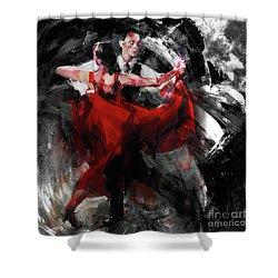 Flamenco Couple Dance  Shower Curtain