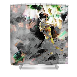 Shower Curtain featuring the painting Flamenco Dance Art 7u7 by Gull G