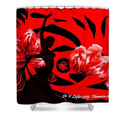 Flamenco-fairy Dance Shower Curtain by Dr Loifer Vladimir