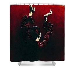 Flamenco Fire Shower Curtain by Richard Young