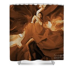 Shower Curtain featuring the painting Flamenco Flamenco  by Gull G