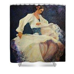 Flamenco In White Shower Curtain