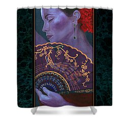 Shower Curtain featuring the painting Flamenco  by Ragen Mendenhall