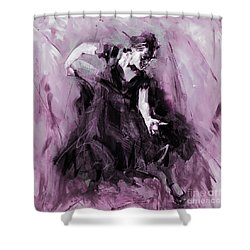Shower Curtain featuring the painting Flamenco Spanish Dance Art by Gull G