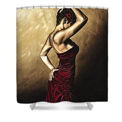 Flamenco Woman Shower Curtain by Richard Young