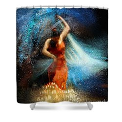 Flamencoscape 05 Shower Curtain