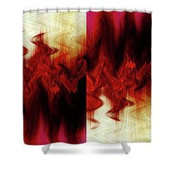 Flames Shower Curtain by Cherie Duran
