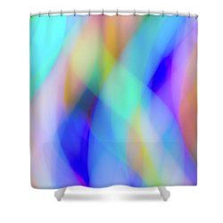 Flames Of Iridescence Shower Curtain