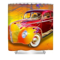 Flamin' '40 Shower Curtain