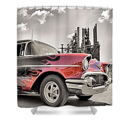 Flamin' 57 Shower Curtain by DJ Florek