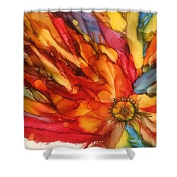 Shower Curtain featuring the painting Burst by Pat Purdy