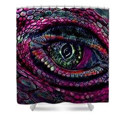 Flaming Dragons Eye Shower Curtain