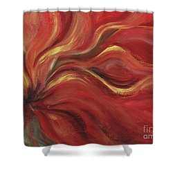 Flaming Flower Shower Curtain by Nadine Rippelmeyer