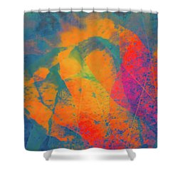 Shower Curtain featuring the photograph Flaming Foliage 1 by Ari Salmela
