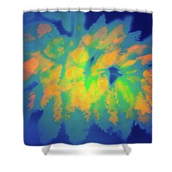 Shower Curtain featuring the photograph Flaming Foliage 2 by Ari Salmela