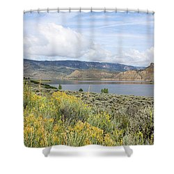 Wolford Mountain Reservoir Colorado Shower Curtain