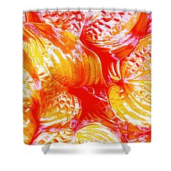 Flaming Hosta Shower Curtain