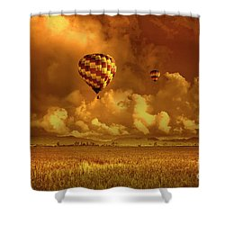 Shower Curtain featuring the photograph Flaming Sky by Charuhas Images