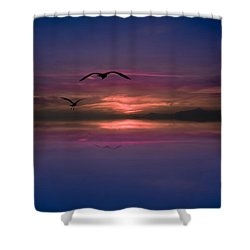 Flaming Sky  Shower Curtain