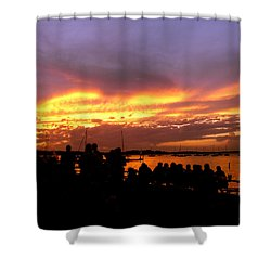 Flaming Sunset Shower Curtain