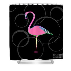 Flamingo Bubbles No 1 Shower Curtain