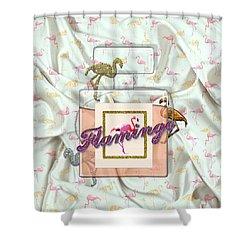 Flamingo Shower Curtain by La Reve Design
