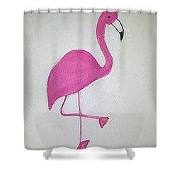 Flamingo Pink Shower Curtain