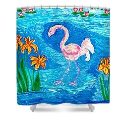 Flamingo Shower Curtain by Sushila Burgess