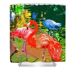 Flamingo Time Shower Curtain