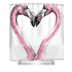 Flamingoes In Love2 Shower Curtain
