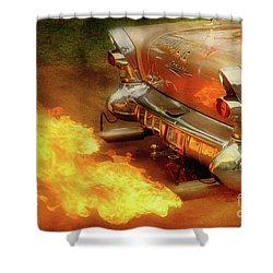 Flam'n Shower Curtain by Joel Witmeyer