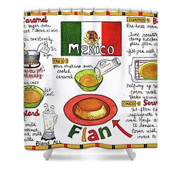 Flan Shower Curtain