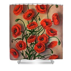 Flander Poppies Shower Curtain