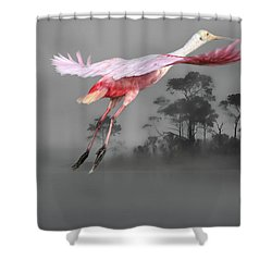 Flash Of Pink Shower Curtain