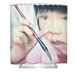 Flashback Shower Curtain by Michel Verhoef
