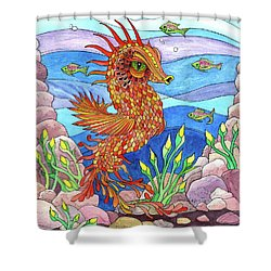Flashy Swimmer And Fishes Shower Curtain