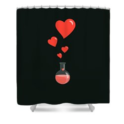 Flask Of Hearts Shower Curtain